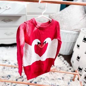 6-7Y Swan Knit Sweater